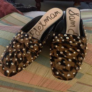 Sam Edelman Size 11 Brown Studded Mules